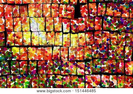 Bricks Are Stacked Together In One Beautiful Package Abstract Concept And Art