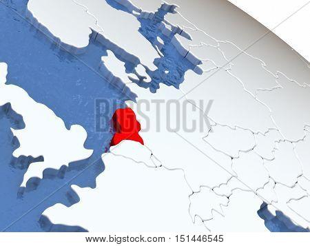 Netherlands On Globe