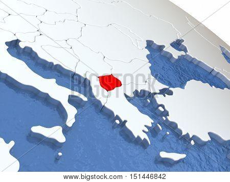 Macedonia On Globe