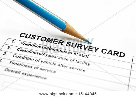 Customer survey card