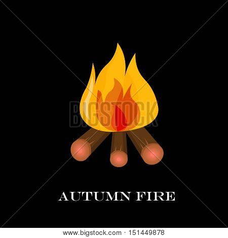 Red Fire Icon Isolated On Background. Modern Simple, Flat Blazing Flame Sign. Vector Illustration.