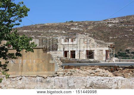 Knossos ancient city on the island of Crete Greece