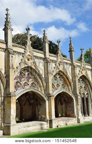 Cloisters at Canterbury Cathedral kent england  uk