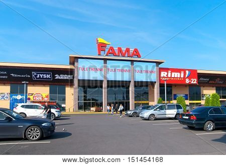 NARVA, ESTONIA - AUGUST 21, 2016: Fama - modern shopping complex. Located on the place of former bastion with the same name.