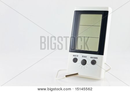 White Digital Hygrometer