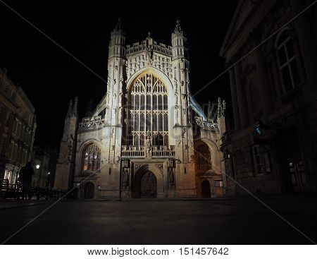 The Abbey Church of Saint Peter and Saint Paul (aka Bath Abbey) in Bath UK