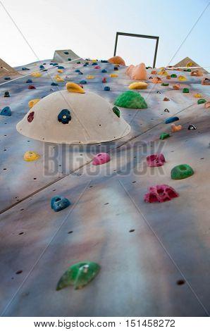 Sport climbing. extreme sport adventure.  rock climbing