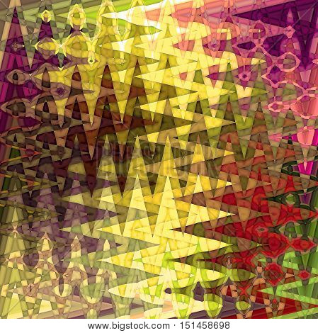 Abstract coloring background of the horizon gradient with visual mosaic, cubism, spherize and wave effects