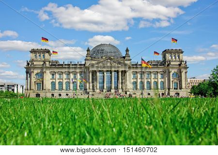 In front of the Berlin Government District  Berlin, Germany