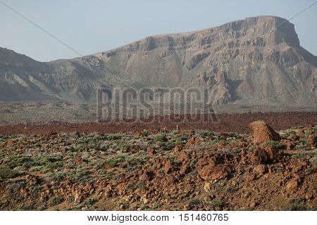 Desert Landscape In Volcan Teide National Park.
