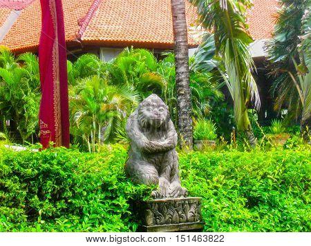 Bali Indonesia - January 02 2009: The main entrance in Ayodya Resort Bali at Nusa Dua Bali Indonesia
