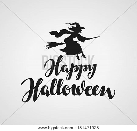 Happy Halloween lettering. Vector calligraphy element for greeting card