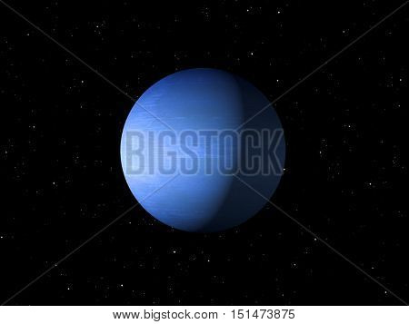 3d rendering of the planet Neptune Elements of this image furnished by NASA