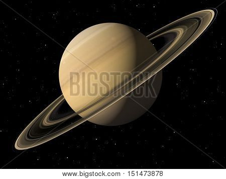 3d rendering of the planet Saturn Elements of this image furnished by NASA