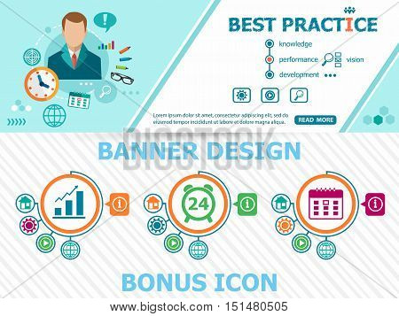 Best Practice Concepts And Abstract Cover Header Background For Website Design.