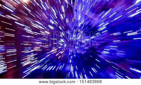 Abstract high speed technology background. Space travel