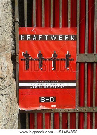 Krafter Concert Poster In Verona