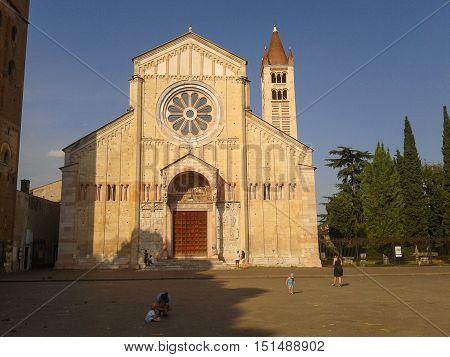 San Zeno Basilica In Verona