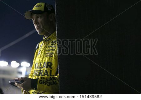 Concord, NC - Oct 06, 2016: Matt Kenseth (20) waits to qualify for the Bank of America 500 at the Charlotte Motor Speedway in Concord, NC.