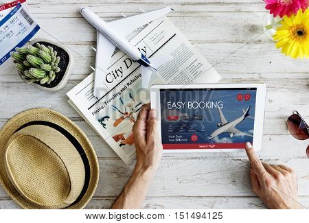 Air Ticket Flight Booking Concept