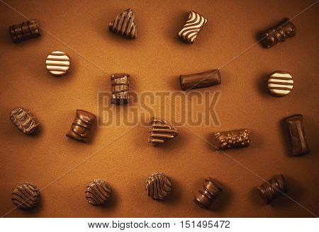 Various Chocolate Candies
