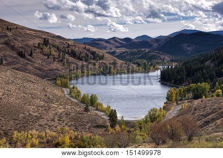Scenic Patterson Lake. The scenic Patterson Lake near Winthrop Washington in Okanogan County.