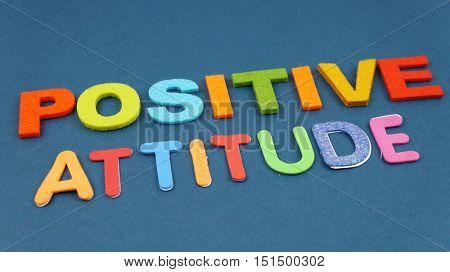 Positive Attitude in colorful wording