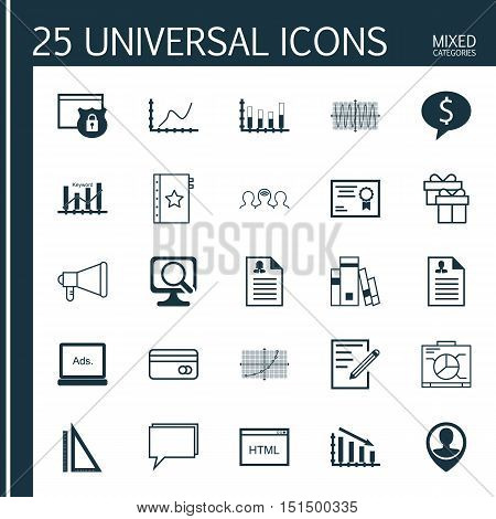 Set Of 25 Universal Icons On Sinus Graph, Coaching, Line Up And More Topics. Vector Icon Set Includi