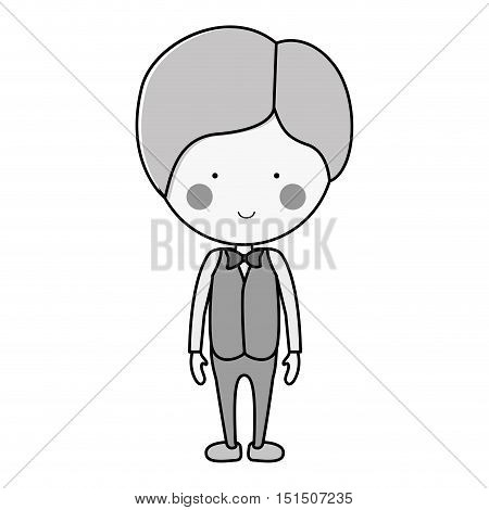 silhouette groom with suit formal vector illustration