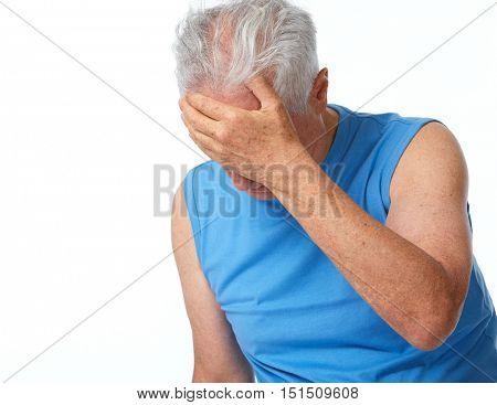 Depressed senior man.