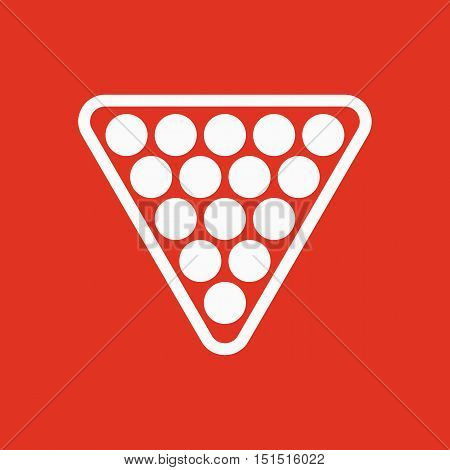 The billiard icon. Billiards symbol. Flat Vector illustration