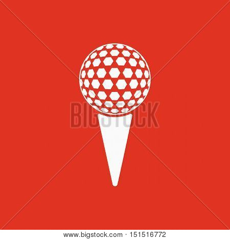The golf ball icon. Game symbol. Flat Vector illustration