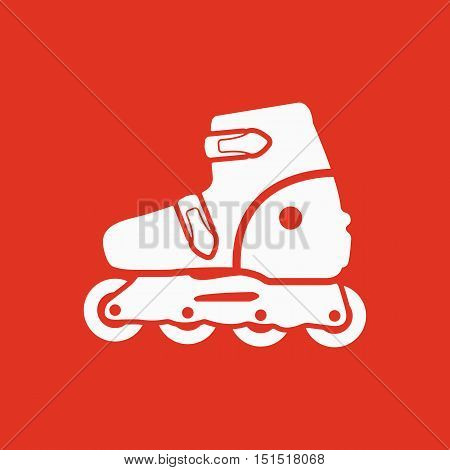 The roller skate icon. Skates symbol. Flat Vector illustration
