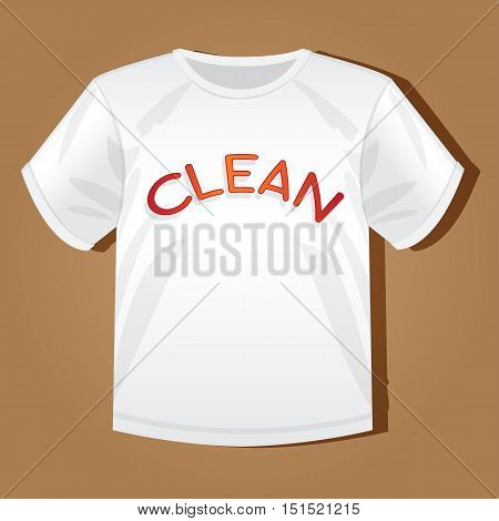 Mock-up vector illustration shirt with the inscription for your design