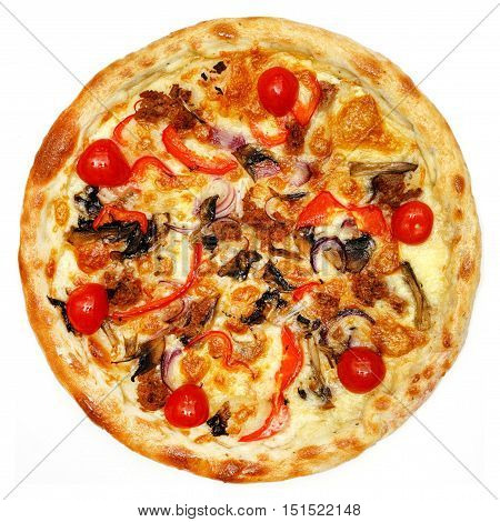 italian pizza isolated on the white background