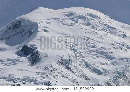 Mont Blanc Summit from Aiguille du midi. France