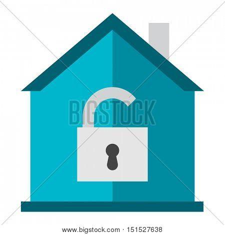 Home lock icon vector.