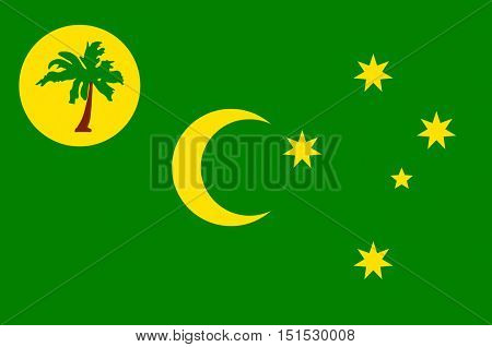 Flag of Territory of the Cocos (Keeling) Islands also called Cocos Islands and Keeling Islands is a territory of Australia.