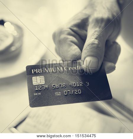 Credit Card Banking Budget Concept