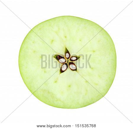 cut the apple isolated on white background with clipping path