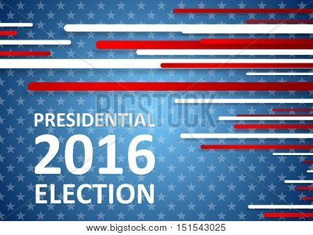 USA Presidential Election 2016 brochure template. Vector background