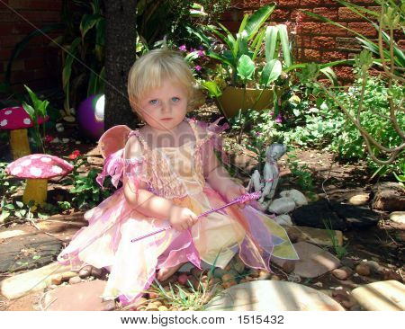 Dream Fairy Performing Magic In The Garden
