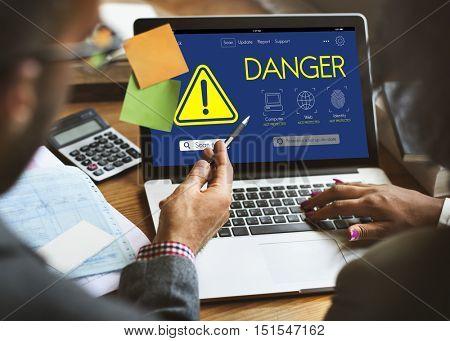 Danger Caution Risk Attention Concept