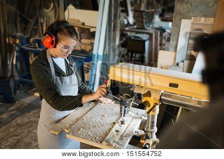 Driling in workshop