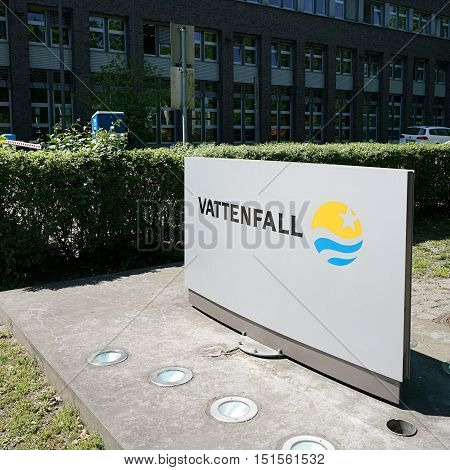 BERLIN, GERMANY - MAY 10, 2016: Company headquarters of Vattenfall Europe AG in Berlin. Vattenfall is the most important energy supplier for Berlin.