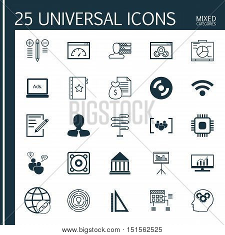 Set Of 25 Universal Icons On Schedule, Decision Making, Opportunity And More Topics. Vector Icon Set