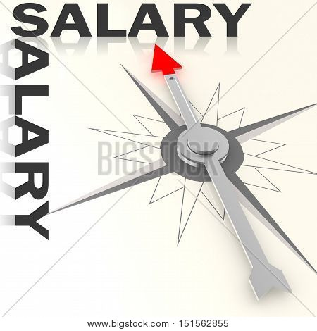 Compass With Salary Word Isolated