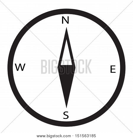 simple icon compass. compass icon on white background