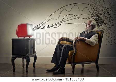 Brainwashed elderly man