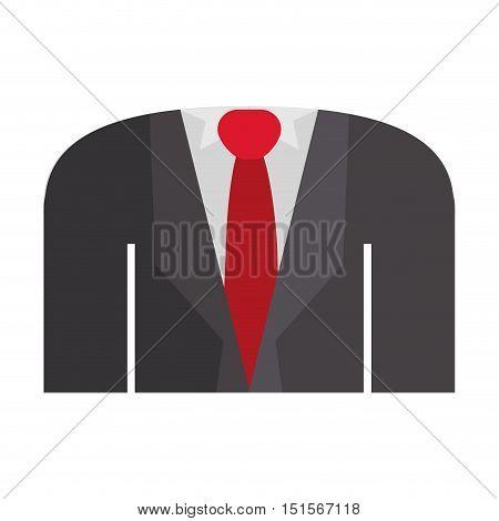 blazer formal with shirt tie vector illustration